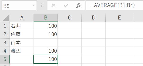 平均・最大・最小 関数を使うときの「空白」と「0」の扱いの違い
